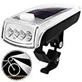 Ultra-Bright Bicycle Light with Rechargeable and Solar Energy Powered Batteries, MAXIN LED Bike Front Headlight Waterproof 750mAH/1000 Lumens hands-free Bike Lights