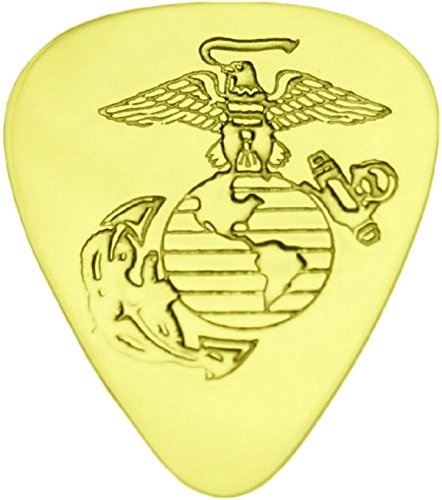 US Marine Corps- Solid Brass Guitar Pick ()