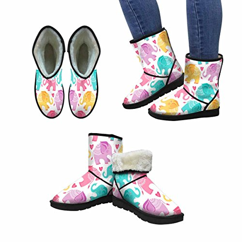 InterestPrint Womens Snow Boots Elephant Unique Designed Comfort Winter Boots Multi 1 Py5yESWvT