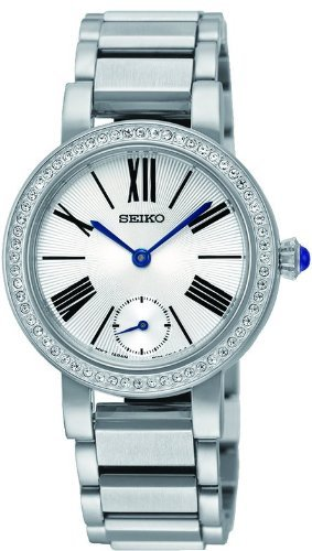 Seiko Classic Conceptual Silver Dial Stainless Steel Ladies Watch SRK027 by Seiko Watches