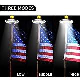 Solar Flag Pole Light, GRDE Upgraded 3 Modes Solar