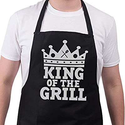 BBQ Apron Funny Aprons For Men King Of The Grill Barbecue Grill Kitchen Gift
