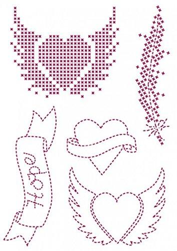 DMC Custom By Me Embroidery Transfer Magic Sheet Love (Dmc Embroidery Transfer)