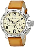 Stuhrling Original Men's 641.01 Monaco Analog Display Quartz Chronograph Date Brown Watch