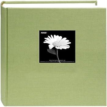 Fabric Frame Cover Photo Album 200 Pockets Hold 5x7 Photos, Sage Green