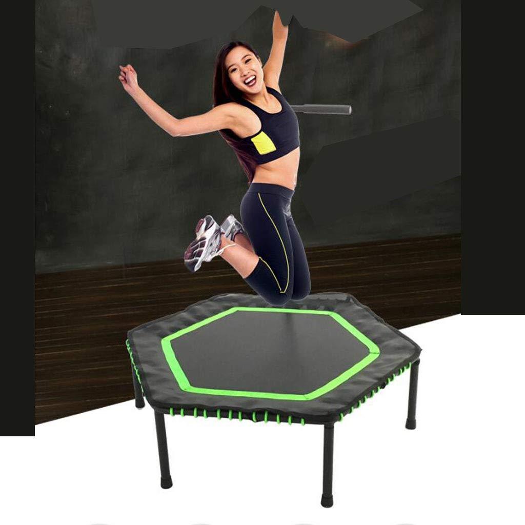 Trampolines dint/érieur Trampoline Adulte Trampoline Professionnel Stretch Formation Home Gym Color : Green, Size : 114 * 114 * 35cm