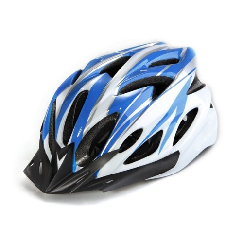 3 opinioni per TOOGOO(R)Casco della bici MTB Velo Casco blu e bianco con visiera regolabile