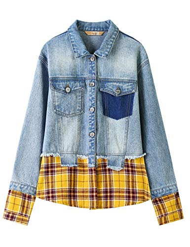 Elf Sack Women Ex-Boyfriend Trucker Jacket, Loose Fit for sale  Delivered anywhere in USA