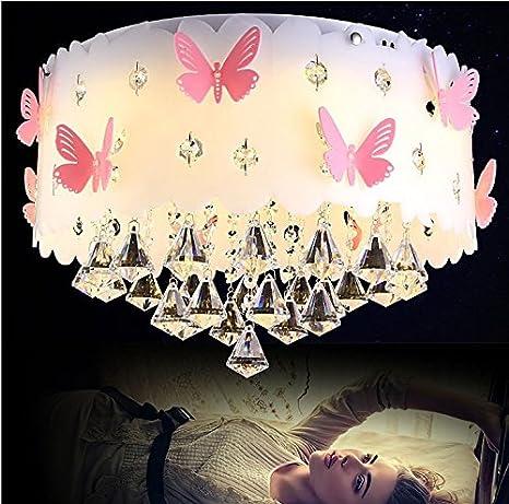 JJ moderna lámpara de techo LED lámpara de techo de cristal Hada princesa niñas habitación niños Caliente boda romántica habitación dormitorio ...