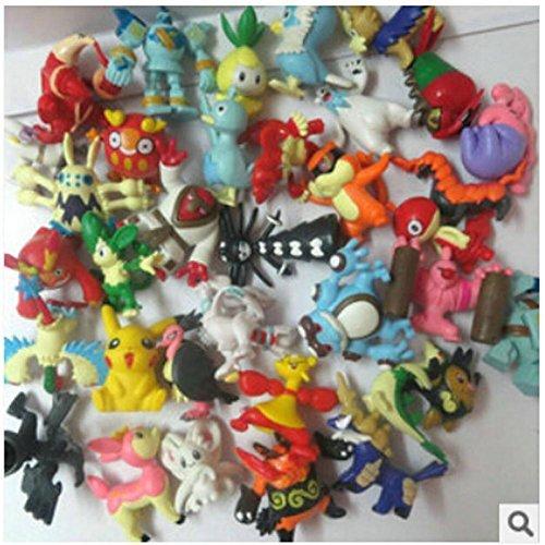 100PCS/SET Pokemon Figures Middle Size 3-5CM PVC Action Figure Model Classic Toys for Children Kids Toys Mix Up
