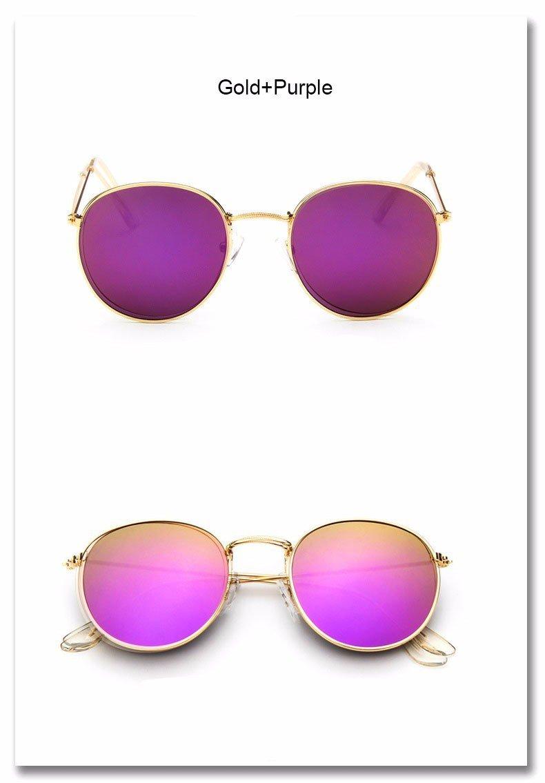 Aprigy Retro - Gafas de Sol Redondas para Mujer y Hombre ...