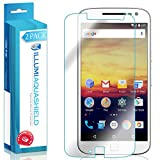 Moto G4 Plus Screen Protector (2-Pack), ILLUMI AquaShield Premium High Definition Ultra Clear / Invisible Bubble-Free UV Resistant Self-Healing Film w/ Lifetime Warranty