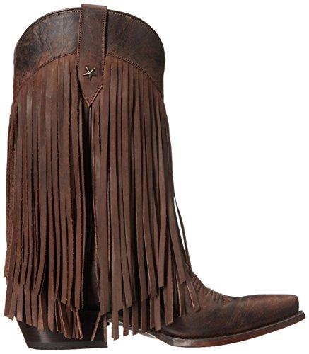 Boot Women's Fringe Roper Work Tall Brown aSqHBO