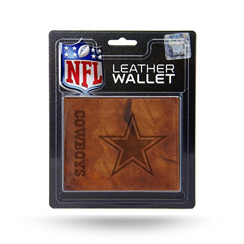 Dallas Cowboys Official NFL Leather Billfold Wallet, Team Color, One (Leather Dallas Cowboys Football)