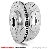 Power Stop JBR1701XPR Rear Evolution Performance Drilled, Slotted& Plated Brake Rotor Pair