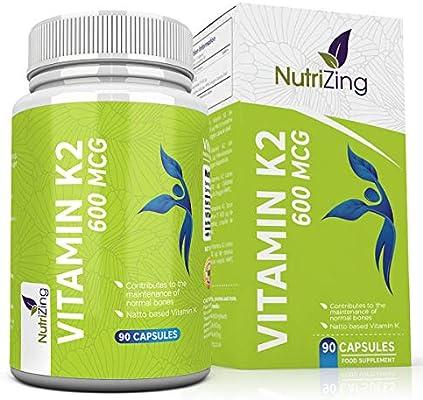 Vitamina K2 Alta resistencia 600 mcg | 90 Vegetarian Cápsulas ...
