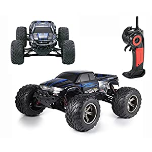 CR 1/12 Full-Scale 2WD Remote Control Off Road Monster RC Truck 35MPH+ High Speed 2.4GHz Radio Controlled Waterproof Buggy Hobby Car RTR-Blue