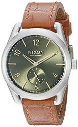 Nixon Men's A4591888 C39 Analog Display Swiss Quartz Brown Watch