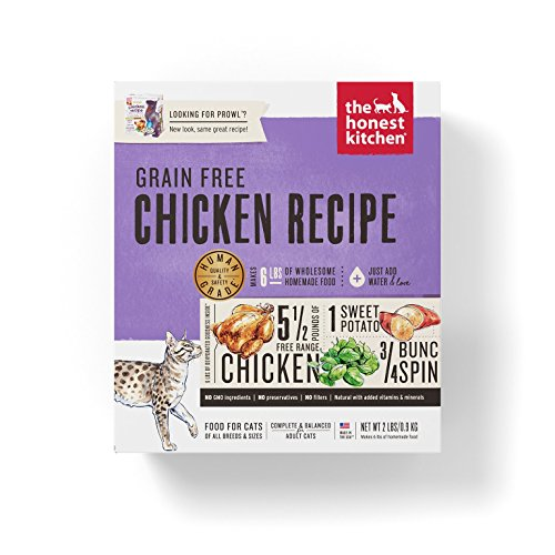 Honest Kitchen The Grain Free Chicken Cat Food Recipe, 2 lb box - Prowl -