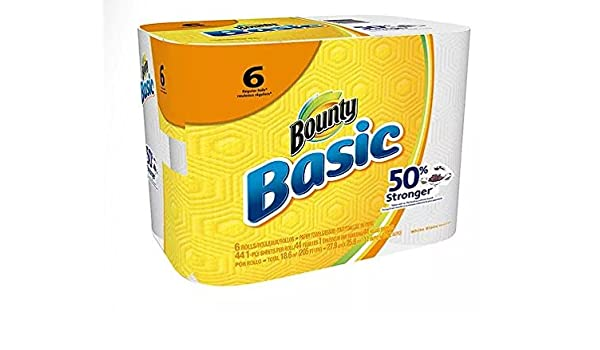 Bounty básicos toallas de papel de periódico 6.0 EA Pack de 1: Amazon.es: Hogar