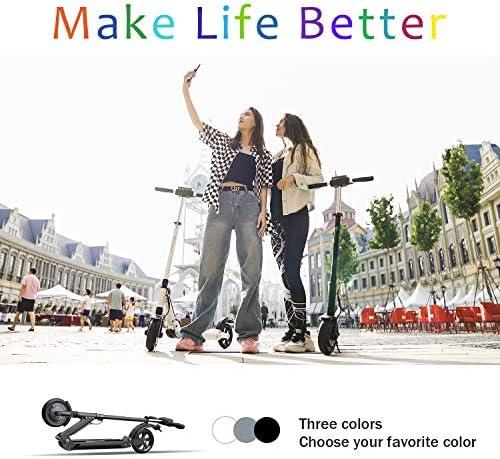MARKBOARD Trottinette Electrique Pliable, Electric Scooter Batterie Longue Portée, Moteur 350W, 3 Modes Vitesse, 8 Pouces Patinette Pliable Robuste, Affichage à LCD