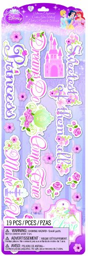 EK Success Brands Disney Chipboard Stickers, Princess Titles