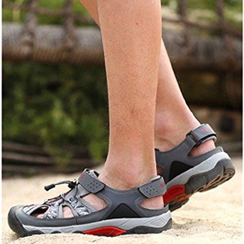 Sportivi Antiscivolo Sandali Grigio Scarpe Uomo Baotou Traspirante Sandali Da Esterno Estivi Da Spiaggia Da qwxCC7IO