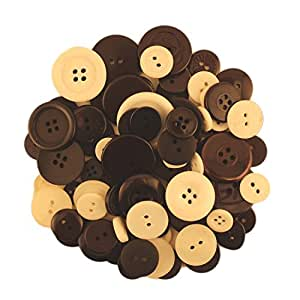 BUTTONS GALORE BIG BAG OF COLORFUL CRAFT & SEWING BUTTONS 5.5 OZ (APPROX 225 PCS) BLACK & WHITE