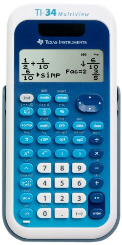 Texas Instruments (34MV/TBL/1L1) TI-34 MultiView Scientific Calculator by Texas Instruments