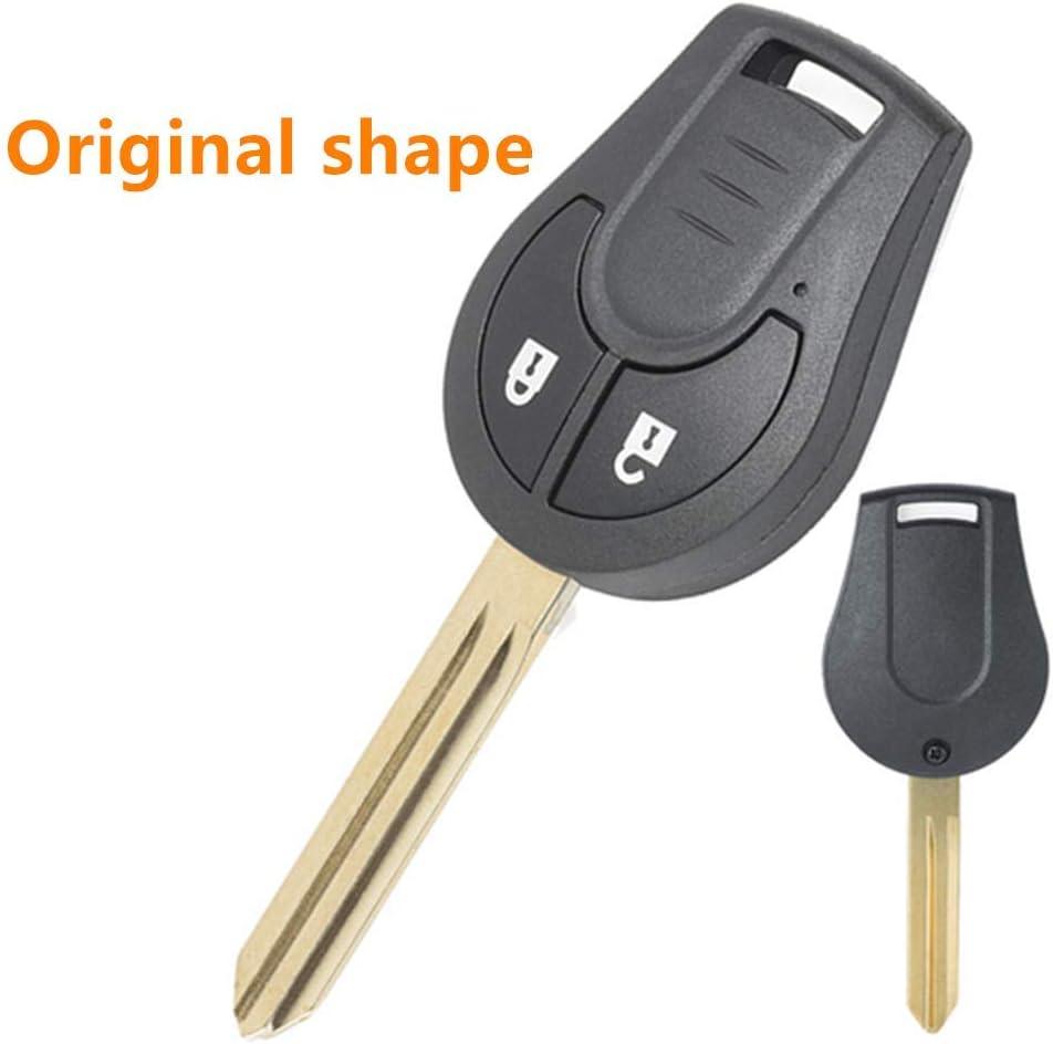 per Nissan Cube Juke Original shape Note Qashqai Micra Beefun Guscio di ricambio per chiave con telecomando a 2 pulsanti