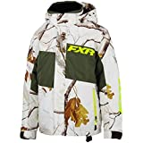 NEW FXR-SNOW SQUADRON YOUTH WATERPROOF/POLYESTER JACKET, REALTREE/CAMO AP HD SNOW/OLIVE, SIZE-16 by FXR-SNOW