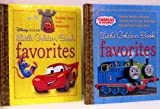 Little Golden Book Favorites 2 Pack - Thomas the Tank Engine (Thomas Breaks a Promise / Thomas and the Big Big Bridge / May the Best Engine Win) Disney Pixar (Finding Nemo / Cars / Ratatouille)