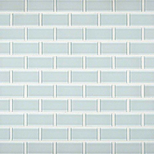 Arctic Ice 12 In. X 12 In. X 8mm Glass Mesh-Mounted Mosaic Tile, (10 sq. ft., 10 pieces per case)
