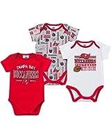 Gerber Baby Boys Tampa Bay Buccaneers Short Sleeve Bodysuits-3 Pack