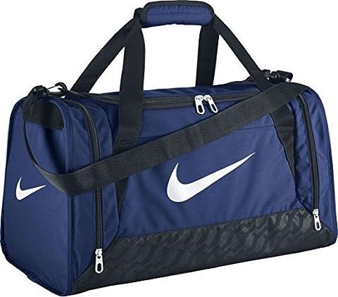 NIKE Brasilia 6 Small Duffel Bag BA4831 411 Game Royal/Black/White