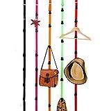 LABANCA 5-Pack Adjustable Over Door Strap Hangers Hooks Closet Organizer 6.8 Feet 8 Hooks