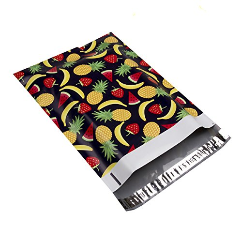 #4 10x13 Summer Fruits Designer Poly Mailers Shipping Envelopes Boutique Custom Bags 2.35MIL by Mailer Plus 100pcs Photo #5