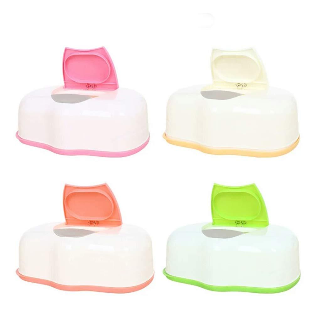 MOOUK Pop-up Tissue Case, Baby Wipe Holder Box Wet Tissue Dispenser Organiser for Home Travel Use(Random Color)