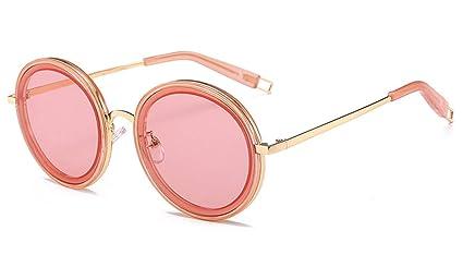Midsy - Gafas de sol redondas para mujer, con marco de metal ...
