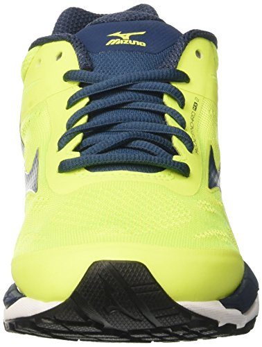 Homme Majolicablue Chaussures Synchro Safetyyellow Mizuno White Multicolore Course MX de f6gSqHw