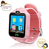 Kid Cell Phone Watches for Kids Children Calling Watch with Camera with SIM Card Kids Educational Toys Boys Girls Gift.(Pink)