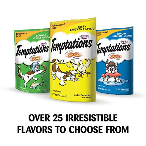 TEMPTATIONS Classic Treats for Cats Tasty Chicken Flavor 6.3 Ounces (Pack of 10)