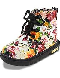 Maxu Fashion Girls Boys PU Waterproof Child Martin Boots