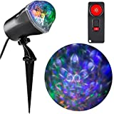 LightShow Ultra-bright LED Technology Projection Fire and Ice with Remote, Swivels to any Position, Stakes Easily Into the Ground, Features Colorful, Swirling Lights,