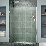 DreamLine Unidoor 39-40 in. Width, Frameless Hinged Shower Door, 3/8'' Glass, Chrome Finish