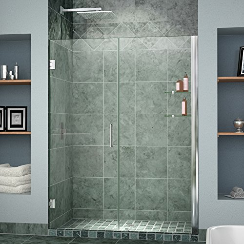 DreamLine Unidoor 39-40 in. Width, Frameless Hinged Shower Door, 3/8'' Glass, Chrome Finish by DreamLine