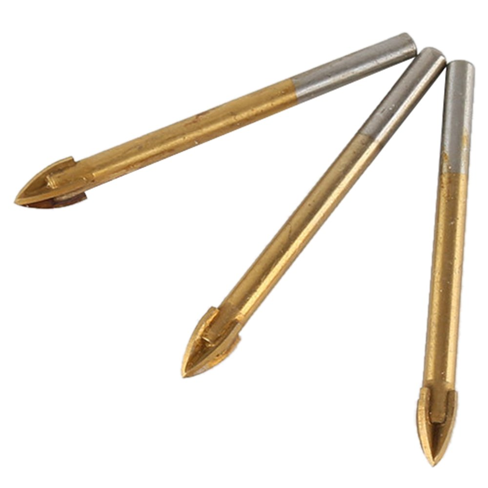 Godagoda Cross Spear Head Drill with Hex Shank for Ceramic Tile Marble Mirror and Glass 4mm-12mm