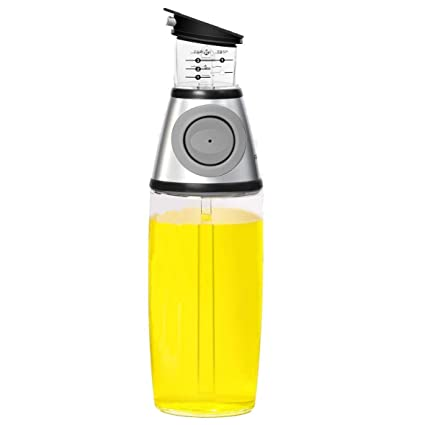 Olive Oil Dispenser Bottle - MAXZONE Oil Spray Bottle with NoOil Pourer Dispensing Bottles for Kitchen