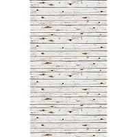 Ella Bella Photography Backdrop Paper, 4-feet x 12-feet, White Washed Wood