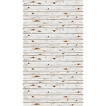 Ella Bella Photography Backdrop Paper, 4-feet by 12-feet, White Washed Wood